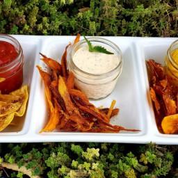 Crispy Fried Vegetable Chips
