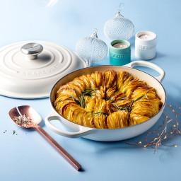 Crispy Hasselback-Style Potato Bake