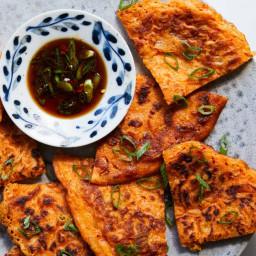 Crispy Kimchi and Scallion Pancakes