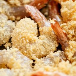 Crispy Oven Baked Crumbed Shrimp