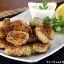 Crispy Panko-Parmesan Artichoke Hearts with Lemon Aioli