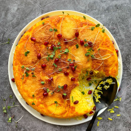 Crispy Persian Potato and Saffron Tahdig