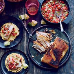 Crispy Pork Belly Tacos with Pico de Gallo