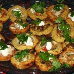 Crispy Potato Sopes (Masa Boats) with Goat Cheese And Herbs
