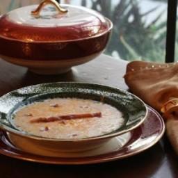 Crispy Prosciutto Garlic Potato Soup #SundaySupper #GGHoliday2013