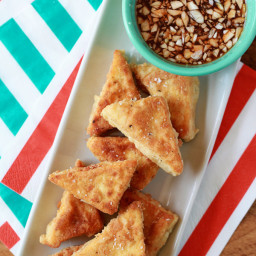 Crispy Quinoa-Crusted Tofu with Sweet Chili Dipping Sauce