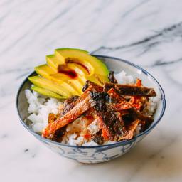 Crispy Salmon Skin Rice Bowls