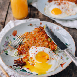 "Crispy ""Sichuan"" Hashbrowns and Eggs"