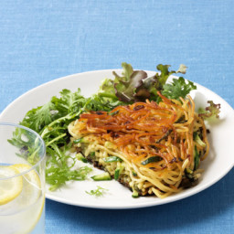 Crispy Spaghetti with Zucchini and Herbs