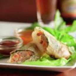 Crispy Spring Rolls with Herb Salad