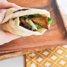 Crispy Tofu Wrap with Homemade Tortillas and Avocado Mayo