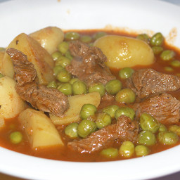 Croatian Lamb/Beef Stew with Green Peas