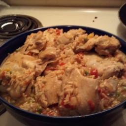 Crock Pot Arroz Con Pollo (Spanish Chicken With Rice)