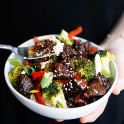 Crock-Pot Asian Beef & Paleo 'Rice' Bowls