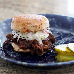 Crock Pot Barbecue Beef Sandwiches