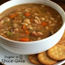 Crock Pot Bean and Ham Soup