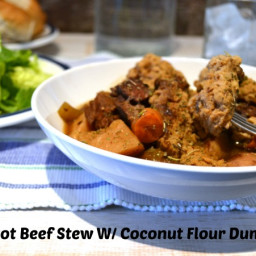 Crock Pot Beef Stew with Coconut Flour Dumplings