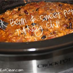 Crock Pot Black Bean And Sweet Potato Turkey Chili