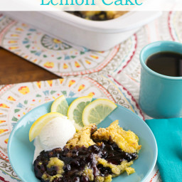 Crock Pot Blueberry Lemon Cake