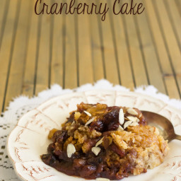 Crock Pot Cranberry Cake