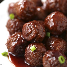 Crock pot grape jelly & BBQ meatballs