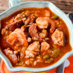 Crock Pot Gumbo Recipe with Sausage, Chicken, and Shrimp