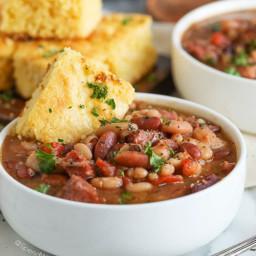 Crock Pot Ham and Bean Soup