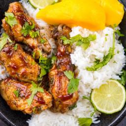 Crock-Pot® Mango BBQ Chicken Bowls