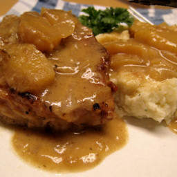 Crock Pot Normandy Pork With Apples, Shallots and Cider