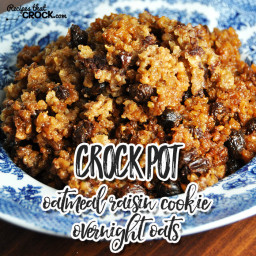 Crock Pot Oatmeal Raisin Cookie Overnight Oats