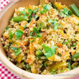 Crock Pot Quinoa with Vegetables