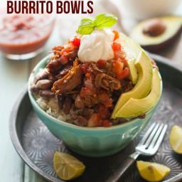 Crock Pot Recipe -Gluten Free Chili Spiced Pulled Pork Burrito Bowls Recipe