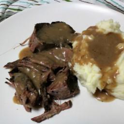 Crock Pot Roast Beef & Brown Gravy