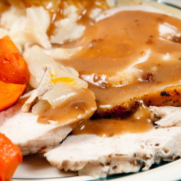 Crock Pot Roast Turkey Breast and Turkey Gravy