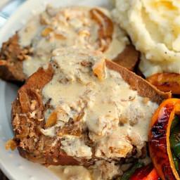 Crock Pot Roast with Sour Cream Gravy