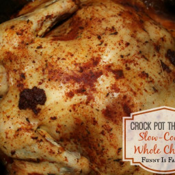 Crock Pot Slow-Cooked Whole Chicken
