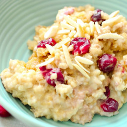 Crock-Pot® Slow Cooker Cranberry Eggnog Oatmeal