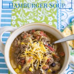 Crock Pot Southwestern Hamburger Soup