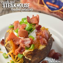Crock Pot Steakhouse Loaded Potatoes