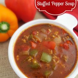 Crock Pot Stuffed Pepper Soup makes a Delicious Meal!