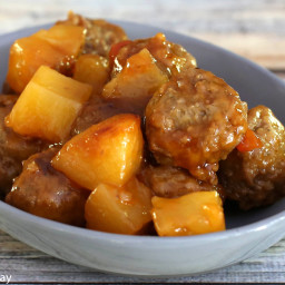 Crock Pot Sweet and Sour Meatballs With Pineapple