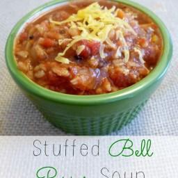 Crock Pot Thursday: Stuffed Bell Pepper Soup