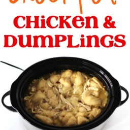 Crockpot Chicken and Dumplings Recipe!