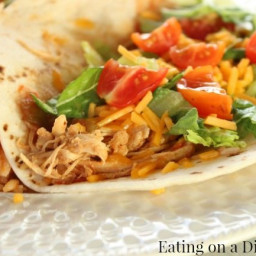 Crockpot Chicken Tacos - only 3 ingredients!