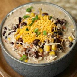 Crockpot Creamy Chicken Taco Soup Recipe