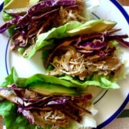 Crockpot Cuban Pork Lettuce Wraps