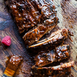 Crockpot Grilled Fiery Habanero Apricot BBQ Ribs