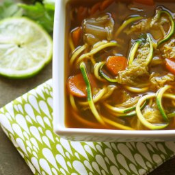 Crockpot Miso Vegetable Zoodle Soup