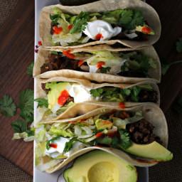 crockpot quinoa lentil tacos ~vegan, gluten free~