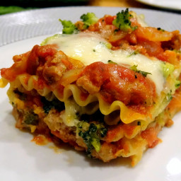 Crockpot Turkey Spinach Lasagna